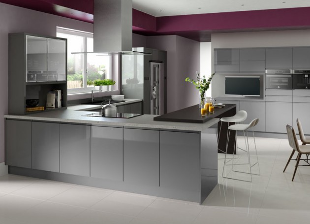 Gentil 15 Divine Grey Kitchen Designs In Contemporary Style