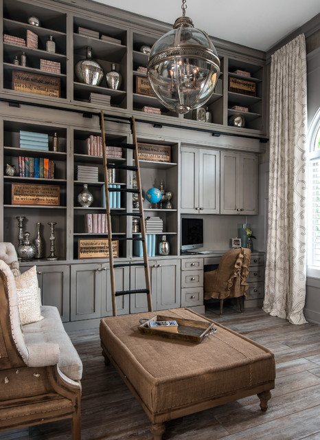 Luxury Home Library: 15 Uplifting Shabby Chic Home Office Designs That Will