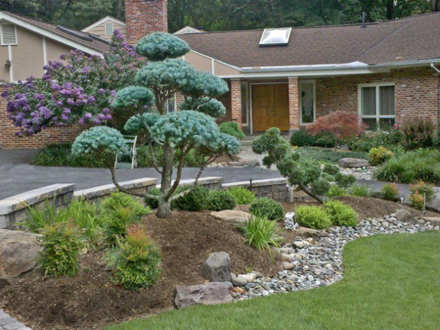 18 beautiful landscape designs with rocks stones for Garden design with rocks