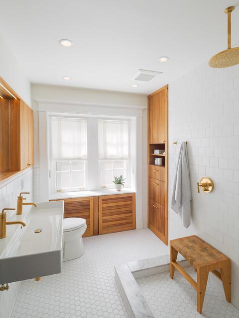White Minimalist Master Bedroom