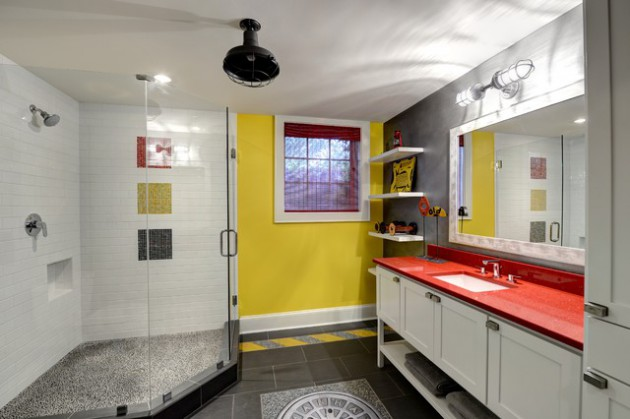 18 Magnificent Bathroom Designs Refreshed With Yellow Details