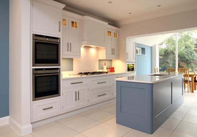 16 Magnificent Kitchen Designs With Blue Kitchen Island