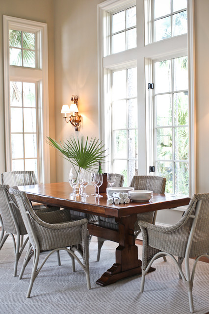 18 Gorgeous Dining Room Designs With Chairs Made Of Rattan