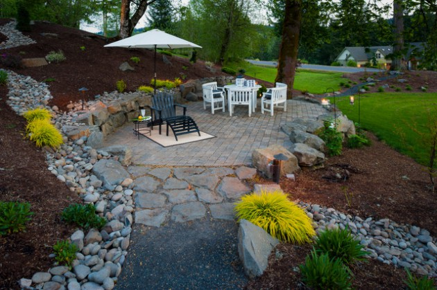 Enchanting Small Garden Landscape Ideas With Stepping Walk: 18 Beautiful Landscape Designs With Rocks & Stones