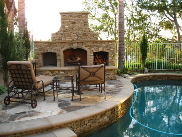 18 Astonishing Stone Fireplace Designs To Improve Your Outdoor Space
