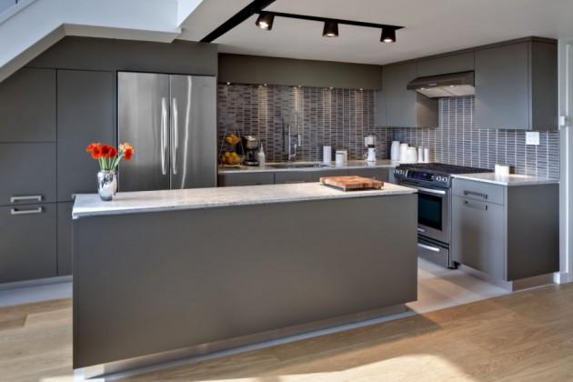 15 Divine Grey Kitchen Designs In Contemporary Style