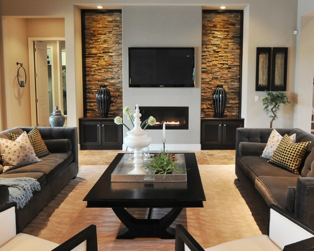 18 Lovely Living Room Designs With Wall