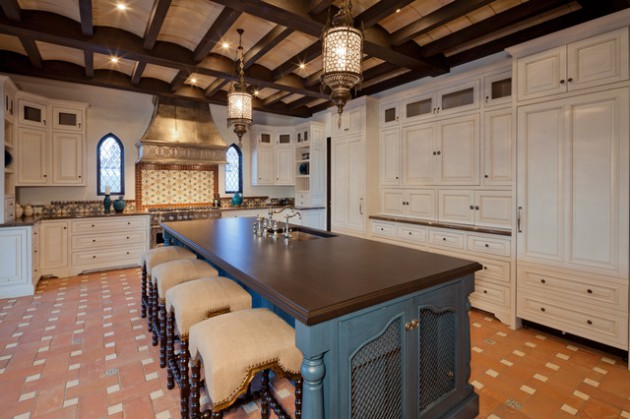 16 Magnificent Kitchen Designs With Blue Kitchen Island