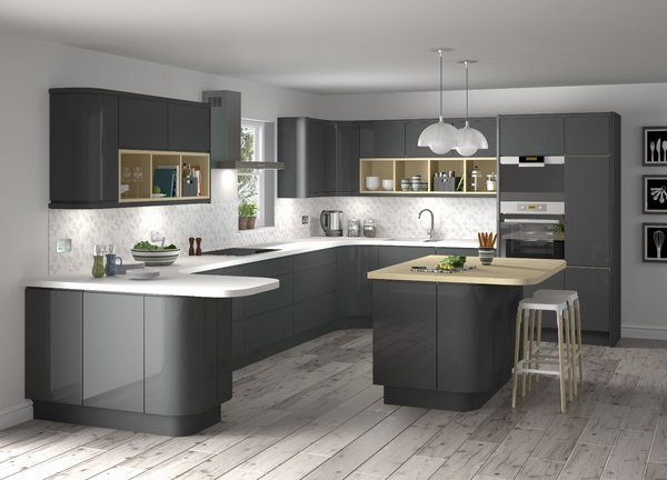 Kitchen Ideas Grey divine grey kitchen designs in contemporary style