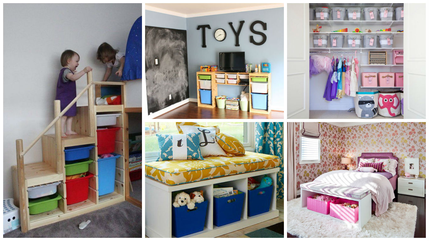 19 practical solutions for toys storage that will help you for Declutter bedroom ideas