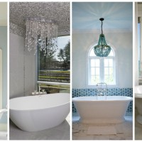 19 Gorgeous Bathroom Designs With Chandelier For Sophisticated Look
