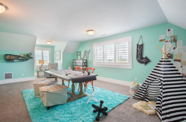 18 Cheerful Childs Room Designs With Blue Walls
