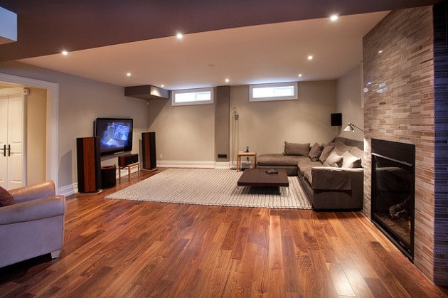 Great Carpeting Ideas For Basements: 17 Delightful Interior Designs With Laminate Flooring