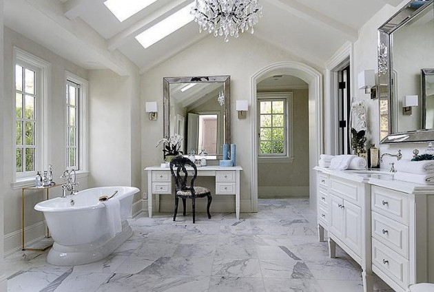 18 Gorgeous Bathroom Designs With Vaulted Ceiling