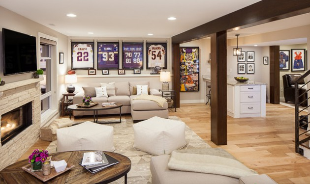 16 Interesting Options For Lighting In The Basement