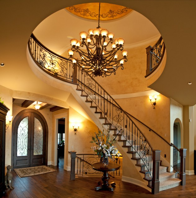 15 Engaging Ideas For Designing Curved Staircase In Your Home
