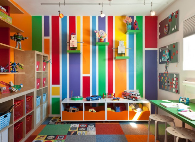 18 Gorgeous Childs Room Designs With Striped Walls