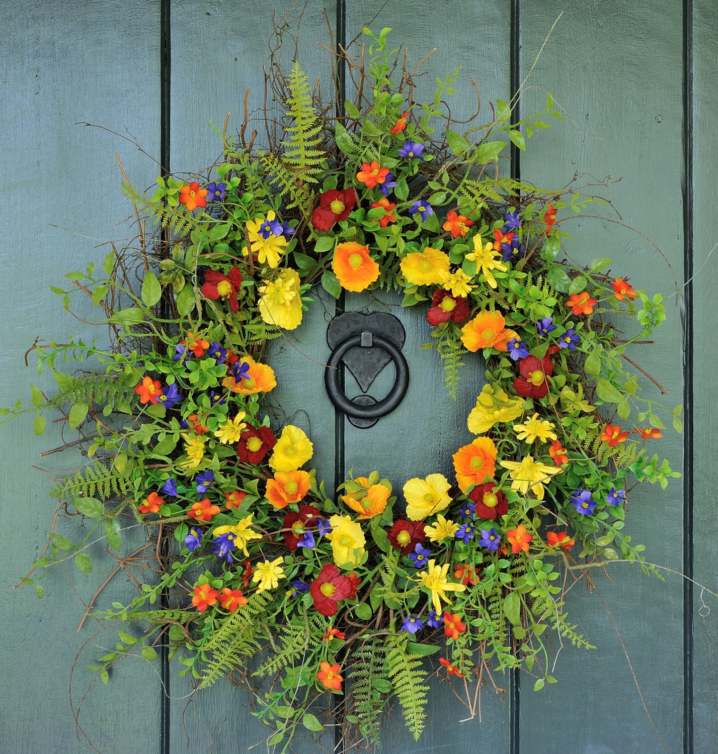 Decorating Wreaths: 15 Joyful Handmade Spring Wreath Ideas To Decorate Your