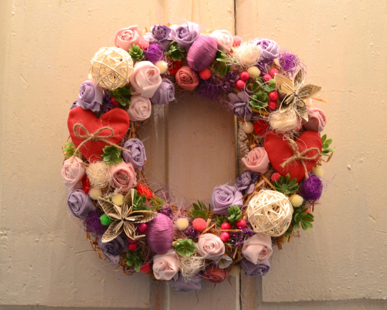 Joyful handmade spring wreath ideas to decorate your front door spring front door wreath rubansaba
