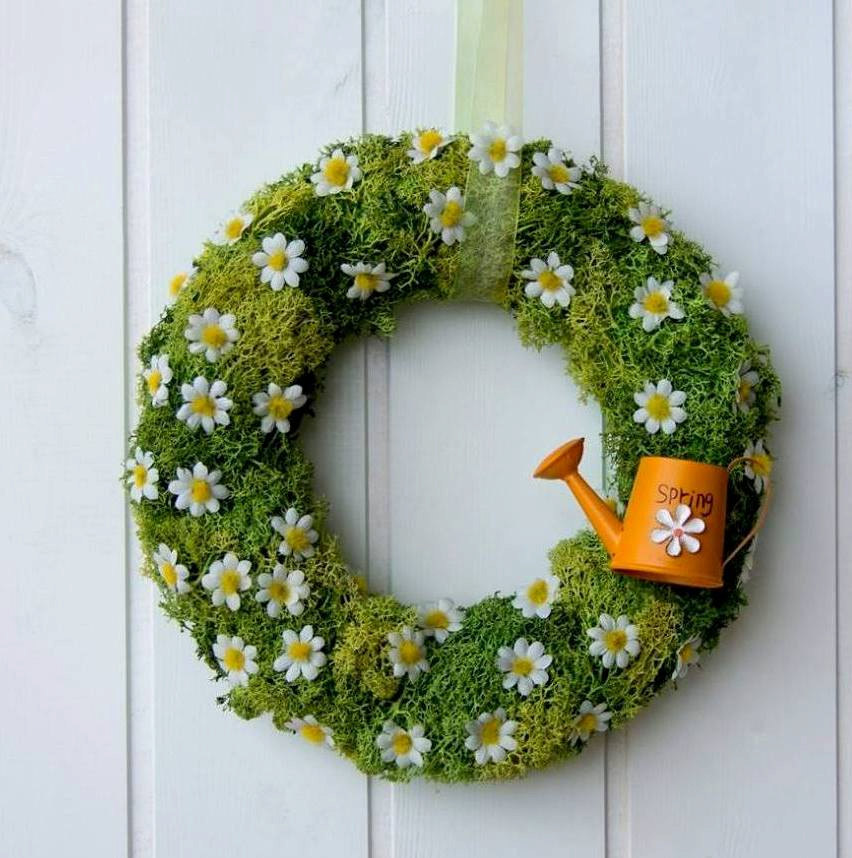 15 joyful handmade spring wreath ideas to decorate your front door - Wreath Design Ideas