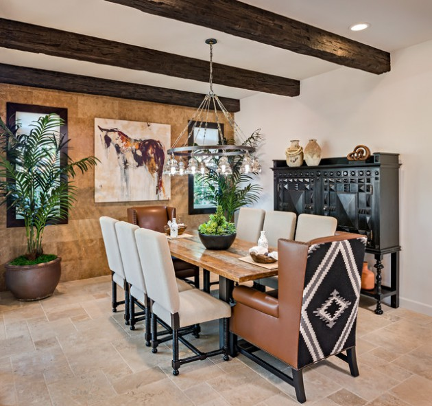 15 Passionate Southwestern Dining Room Designs Full Of