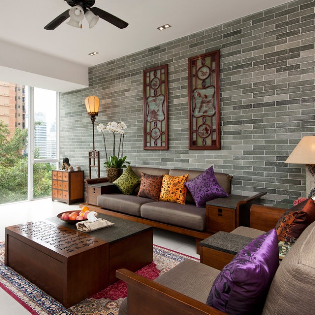 15 Peaceful Asian Living Room Interiors Designed For Comfort