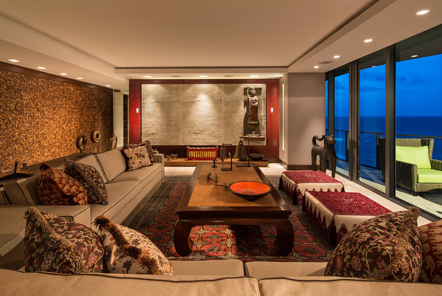 15 peaceful asian living room interiors designed for comfort for Comfort room interior designs