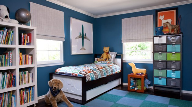 18 Cheerful Child's Room Designs With Blue Walls