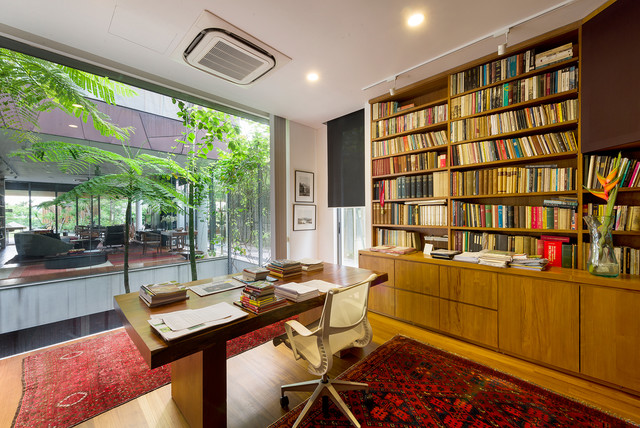 16 inspirational asian home office interior designs that can increase productivity - Colors home office can enhance productivity ...
