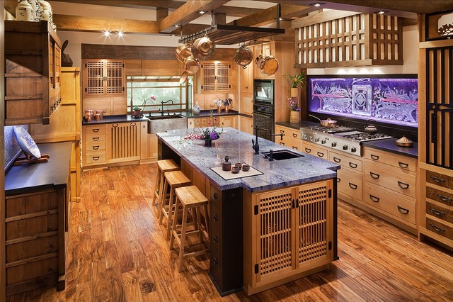 16 pleasing asian kitchen interior designs for inspiration for Japanese style kitchen interior design