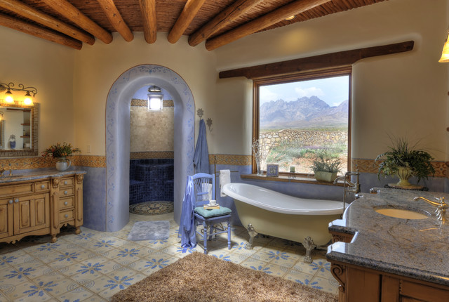 17-Colorful-Southwestern-Bathroom-Designs-To-Inspire-You-17 Ranch Bathroom Designs on ranch porch designs, ranch cabin designs, ranch house designs, ranch entrance designs, ranch renovation designs, ranch patio designs, ranch foyer designs, ranch dressing designs, ranch entry designs, ranch landscaping designs, ranch roof designs, ranch garden designs, ranch wedding designs, ranch office designs, ranch fence designs, ranch pool designs, ranch style bathrooms, ranch kitchen designs, ranch fireplace designs, ranch home interior design,