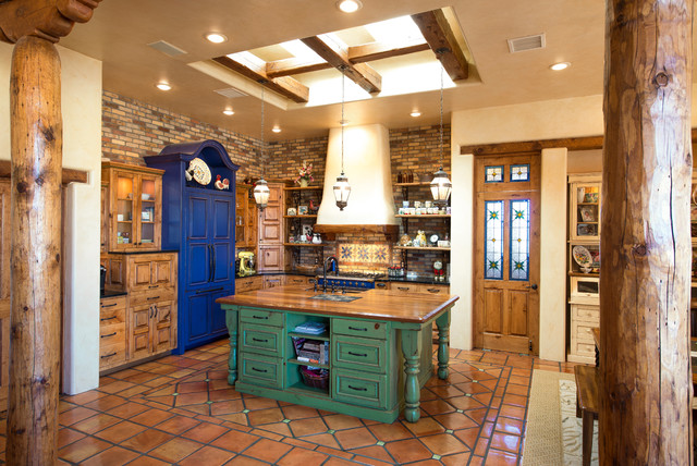 Surprising 17 Warm Southwestern Style Kitchen Interiors Youre Going To Home Interior And Landscaping Ologienasavecom