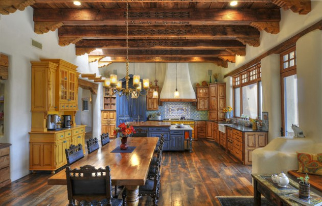 17 warm southwestern style kitchen interiors you 39 re going to adore. Black Bedroom Furniture Sets. Home Design Ideas