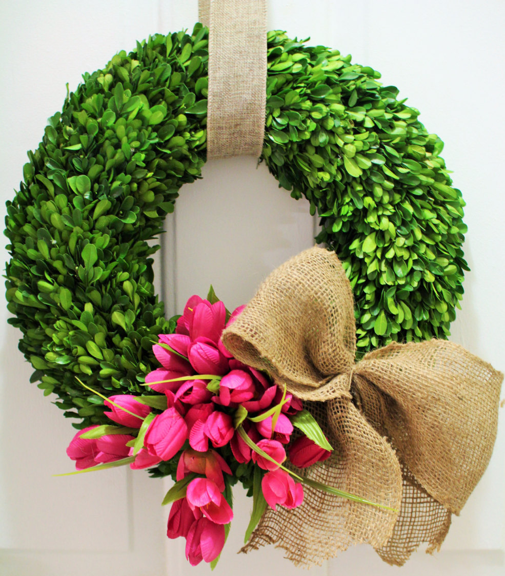 16 Enchanting Modern Entrance Designs That Boost The: 18 Cheerful Handmade Easter Wreath Designs To Get Your