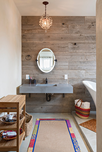 15 Classy Bathroom Designs With Reclaimed Wood