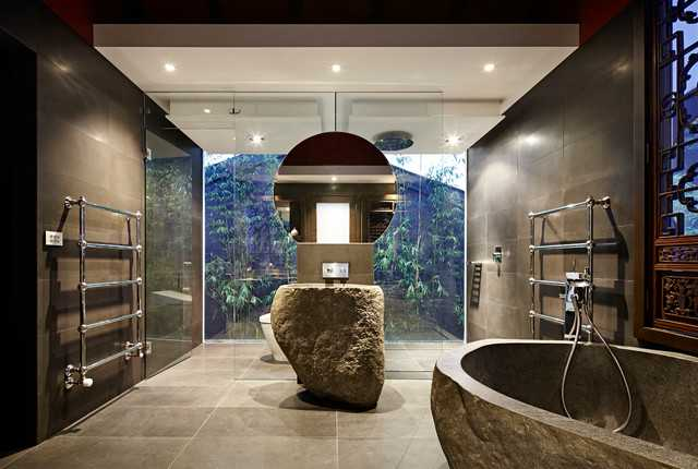 tranquil asian bathroom interiors designed for relaxation