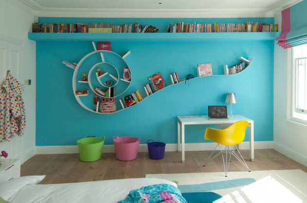 Top 18 The Most Coolest Shelves Designs For The Childs Room