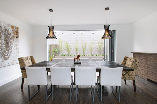17 Lovely Dining Rooms With Cozy Upholstered Dining Chairs