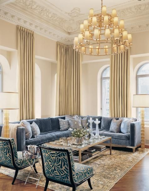 17 Extremely Amazing Interior Designs With Gold & Blue