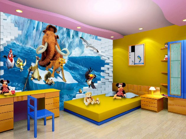 14 Majestic Cartoon Wallpaper Designs For Your Dream Childs Room