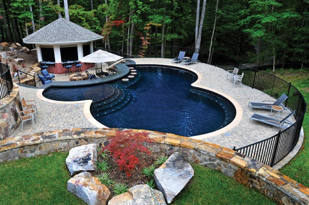 17 Astonishing Free Form Swimming Pools To Adorn Your Courtyard