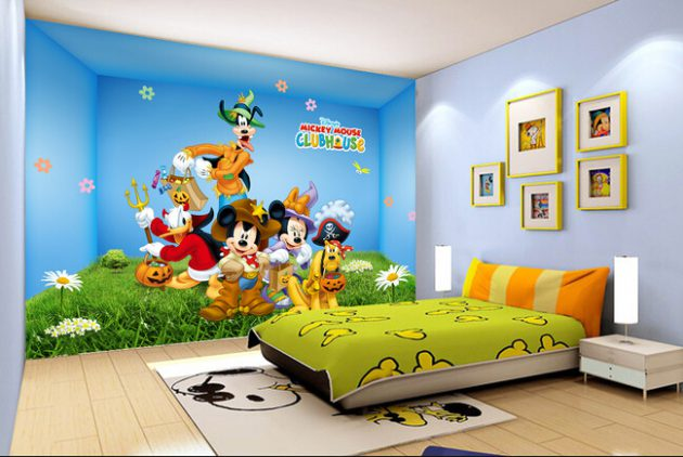 7 Inspiring Kid Room Color Options For Your Little Ones: 14 Majestic Cartoon Wallpaper Designs For Your Dream Child