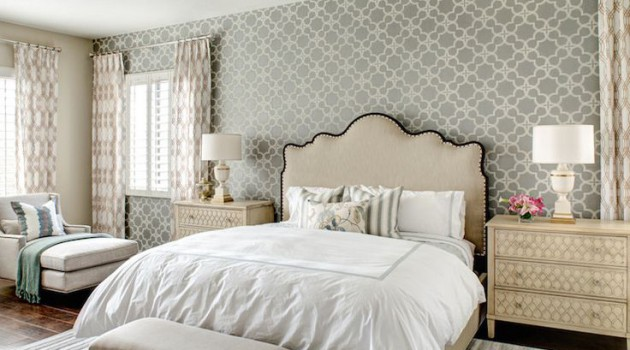 17 Interesting Wallpapers With Geometric Pattern For Every Bedroom