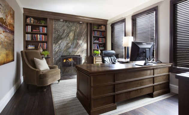 21 Really Impressive Home Office Designs In Traditional Style That Wows