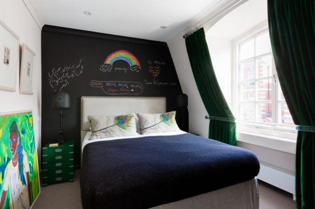 19 Stylish Bedroom Designs Will Black Wall That Exudes Elegance & Sophistication