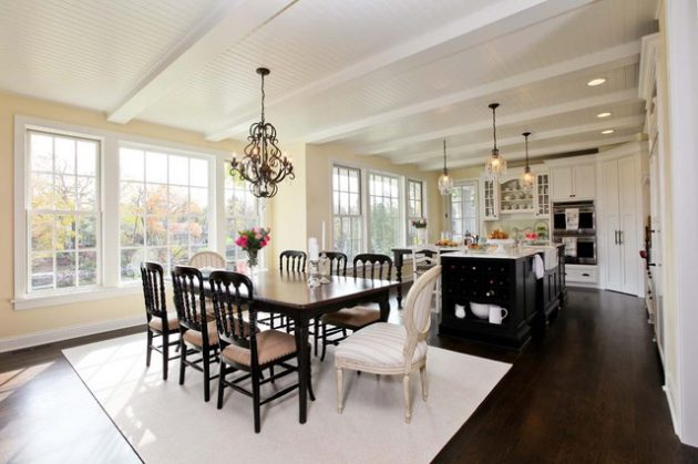 Transitional Style What It Is And How To Capture It: 15 Bright Victorian Dining Rooms That Will Catch Your Eye