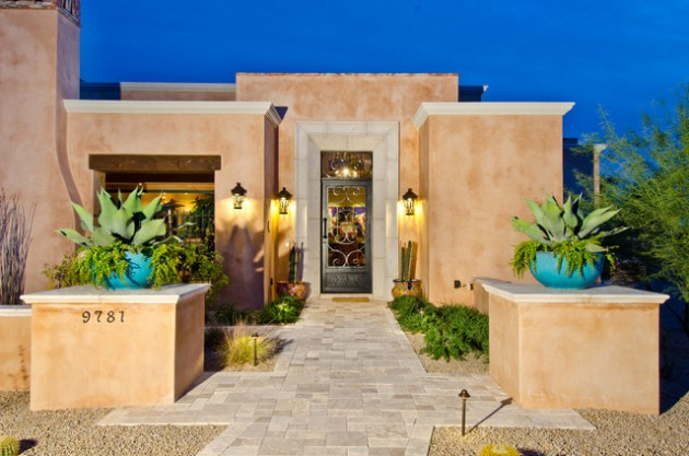 15 Seductive Southwestern Entrance Designs That Will Drag You Inside