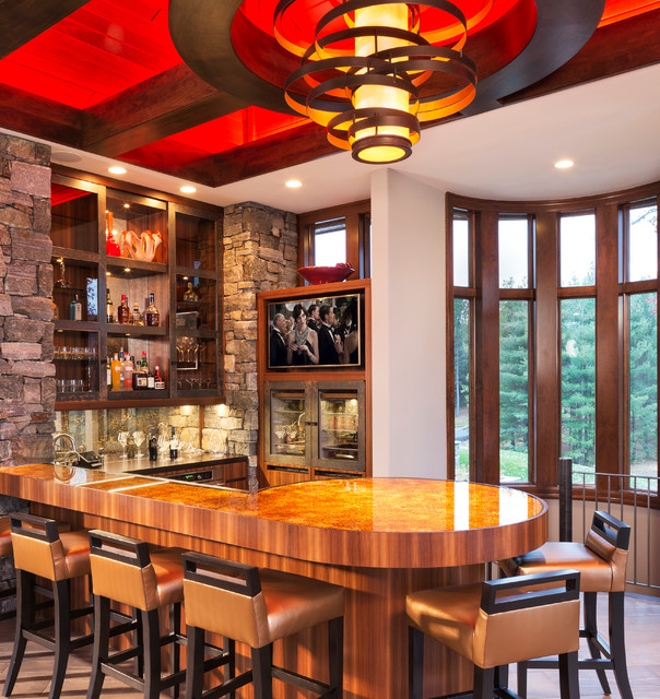 Lake Home Bar Design Ideas: 17 Extravagant Contemporary Home Bar Designs That Are