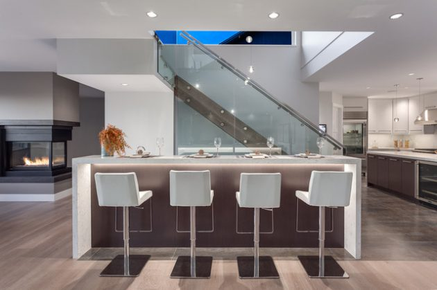 17 Extravagant Contemporary Home Bar Designs That Are Perfect For Your Parties