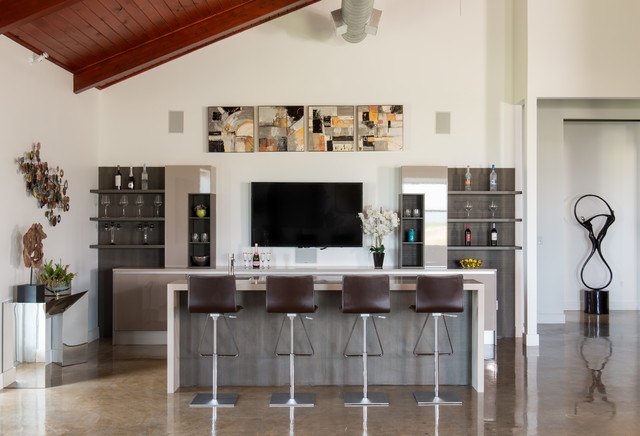 Charmant 17 Extravagant Contemporary Home Bar Designs That Are Perfect For Your  Parties